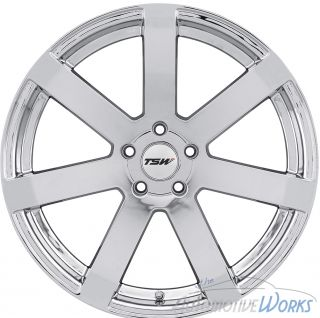1 20x8 5 TSW Bardo 5x120 20mm Chrome Rim Wheel inch 20""