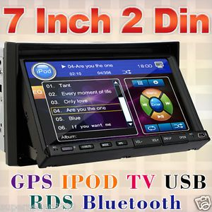 "2012 New 7""in Dash Double DIN Car Stereo DVD Player GPS Navigation Bluetooth USB"