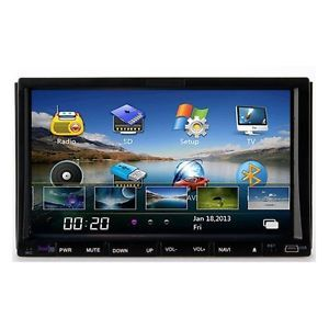 "New HD LCD Touch Screen 7"" Car DVD CD Stereo Player GPS Navi Radio Bluetooth Map"