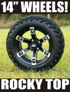 "Yamaha 6"" Lift Kit 14X7 Brute Golf Cart Wheels and 23"" A T Tires"