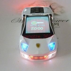 Mini F8 White Cool Sports Car Unlocked Phone Quad Band Dual Sim  Cell Phone