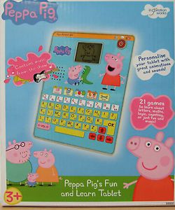 Peppa Pig Toys Peppa Pig's Fun and Learn Tablet Electronic Computer Game