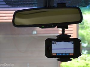 Car Rear View Mirror Bendy Mount for Cell Phones iPhone Mobile Phones