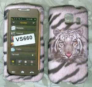 White Tiger Hard Phone Protector Cover Case LG Vortex VS660 Verizon