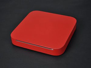 RED Carbon Fiber Sticker Skin Cover For Apple Mac Mini w Optical Drive