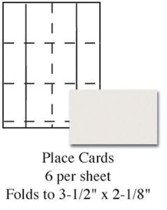 Details about Plain Ivory Printable Wedding Place Cards 60/pk