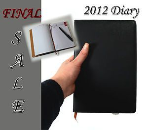 Hot New 2012 Business Personal Diary Day Planner Organizer Basic Simple Black