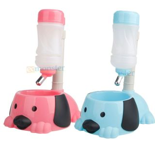 New Dog Puppy Cat Pet 2 in 1 Feeder 32oz Stander Water Bottle 32oz Food Bowl