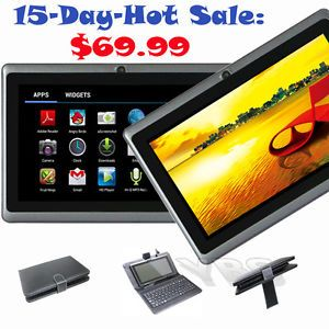 "7"" Android 4 1 Jelly Bean PC Tablet Netbook Cam WiFi Bundle Keyboard Case Film"