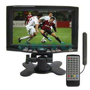 7 inch Portable Wide Mini TFT LCD TV ISDB T Digital TV USB Flash Disk by DHL