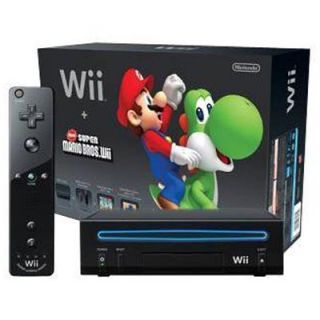 Nintendo Wii New Super Mario Bros Game Console Black