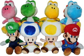 "Super Mario Bros Nintendo Wii 6"" Plush Asst Case of 12"