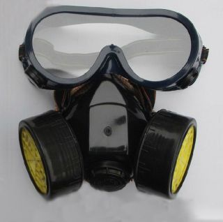 Industrial Mask Glasses Goggle Safety Set Respirator Chemical Gas Antidust IC002