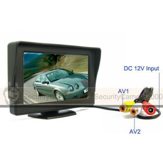 4 3 inch 2 CH Video Input Digital TFT LCD Monitor CCTV
