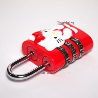 Sanrio Hello Kitty Trick Lock Coded Lock Mini Safety Security Key Travel Luggage
