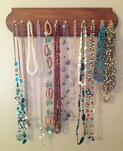 Beautiful Handcrafted Necklace Holder Jewelry Organizer Wall Mount Rack Display