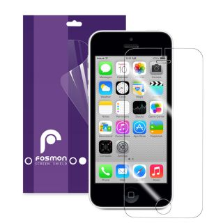 Fosmon 3 Pack Anti Glare Screen Protector Guard Film for Apple iPhone 5 Clear