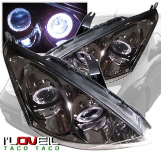 2000 2004 Ford Focus Halo Projector Headlights Smoked