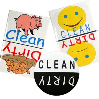 3 Clean Dirty Fridge Refrigerator Dishwasher Magnet