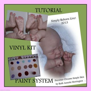 P D Delux Full Reborn Kit Tutorial Simply Heat Set Paint System Baby Doll Art