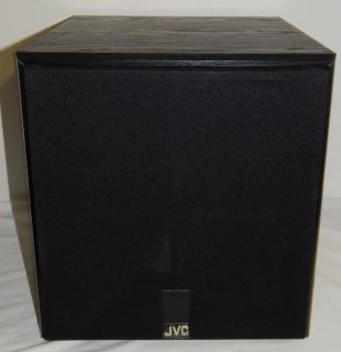 "JVC SP PWA 450 Black Theater Surround Sound System Powered Subwoofer 12"" 120W EC"