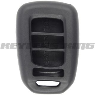 New Black Honda Accord Keyless Remote Key Fob Case Skin Jacket Cover Smart Gel