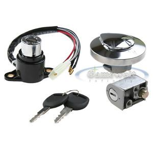 Ignition Switch Gas Cap Lock Key for Honda Rebel 250 Magna