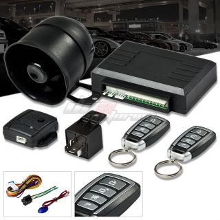 1 Way Remote Car Truck Security Alarm Siren Searching Key Chain 4 Button Black