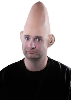 Egg Head Alien Dome Latex Cone Cap genuis Et FX Special Effect Prop Coneheads