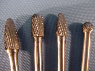 4pc Long Reach Carbide Rotary Burr Polishing Double Cut Tools
