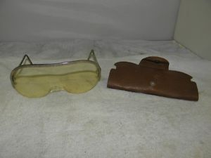 Vintage Willson Feather Spec Safety Glasses in Original Case