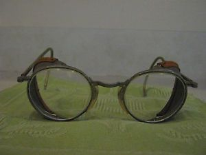 Vtg Cesco Pioneer Safety Glasses Motorcycle Aviator Antique Steampunk Goggles