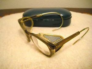 AO American Optical Safety Goggles Steampunk Glasses Side Shield Motorcycle