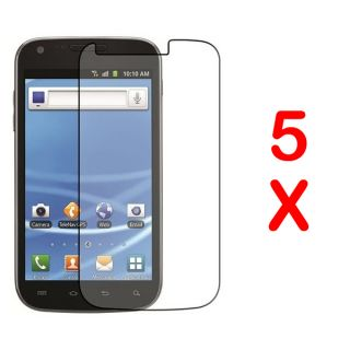 5 Samsung Galaxy S2 s 2 II T Mobile SGH T989 Clear LCD Screen Protector Cover