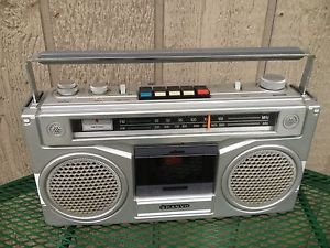 Sanyo M 9901 Boom Box Stereo Radio Cassette Player Vintage
