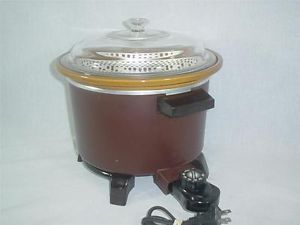 Vtg Dazey Chef's 4 Quart Pot Slow Cooker Deep Fryer Crock Pot DCP 6