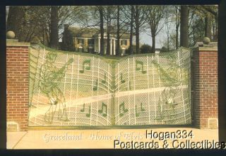 Graceland Home of Elvis Presley Front Gate TN Postcard