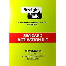 Straight Talk at T Micro Sim Card Activation Kitfor Smart Phones Unlocked GSM