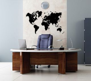 Vinyl Wall Decal Global World Atlas Map Easy to Apply Removable Sticker 1601