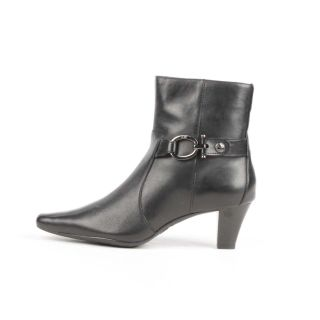 AK Anne Klein Greta Ankle Boot Black 6