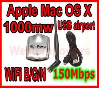 Long Range High Power High Gain Apple Mac OS x USB WiFi