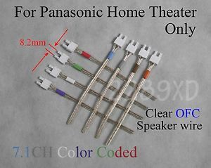 8 8 2mm Color Coded Speaker Cable Wire Connectors 4 Panasonic 7 1CH Home Theater