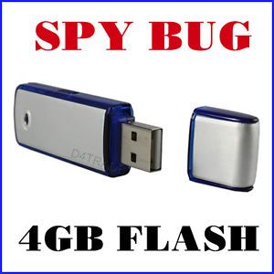4GB Voice Recorder Flash Thumb Drive Spy Equipment USA
