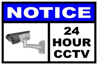 CCTV Notice Surveillance Security Camera Video Warning Decal Sticker Sign Home