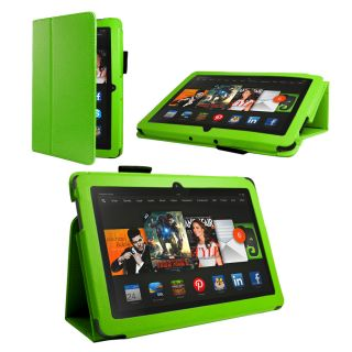 Premium Stand Wallet Case Cover Folio for  Kindle Fire HDX 8 9 Green