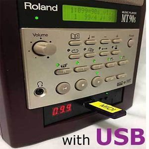 USB Roland MT 90s MIDI Music Player with USB Flash Drive TUNE1000 Midifiles