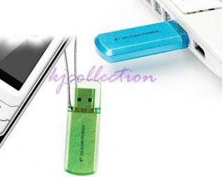 Silicon Power 32GB 32G USB Flash Pen Drive Green Helios 101