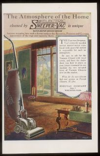 1920 Pneuvac Sweeper Vac Electric Vacuum Cleaner Ad