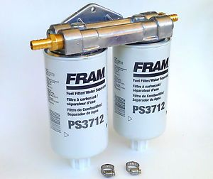 WVO Bio Diesel Dual Remote Mount for Fram PS3712 Fuel Filter Water Separators