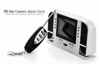 Digital Alarm Clock Camera Spy Cam HD Night Vision Motion Detection 8GB TF Card